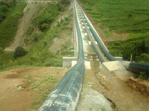云南省文山州2000吨尾矿回水输送通水现场